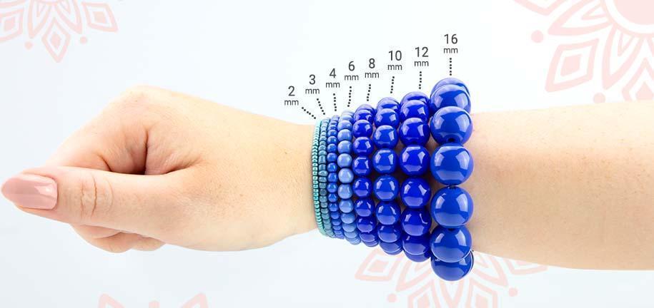 Größentabelle für Perlen