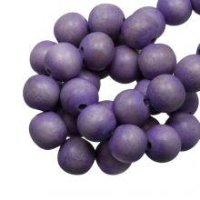 holzperlen violett lavender vintage look 6 mm
