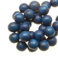 holzperlen runden form intense look blau farben
