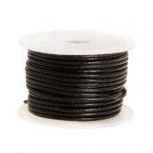 DQ Leder Regular (1 mm) Black (10 Meter)
