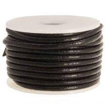 DQ Leder Regular (2 mm) Black (5 Meter)