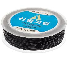 Topqualität Elastikfaden (1 mm) 25 Meter (Black)
