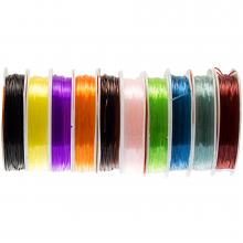 Elastikfaden (0.8 mm) 10 x 8 Meter (Mix Color)
