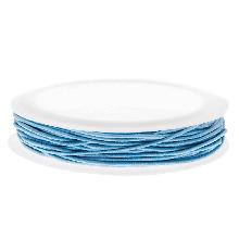 Elastikfaden (1 mm) Light Blue (9,5 Meter)
