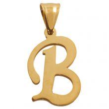 Edelstahl Buchstabenanhänger B (32 mm) Gold (1 Stück)