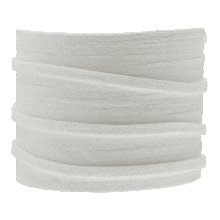 Kunst Wildlederband (3 mm / 1.5 mm) White (5 Meter)