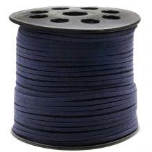 Kunst Wildlederband (3 mm / 1.5 mm) Dark Blueberry (91 Meter)