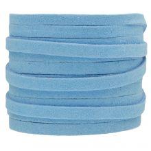 Kunst Wildlederband (5 mm / 1.5 mm) Baby Blue (5 Meter)