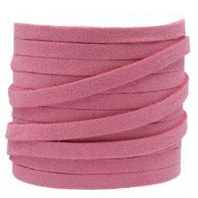 Kunst Wildlederband (5 mm / 1.5 mm) Party Pink (5 Meter)