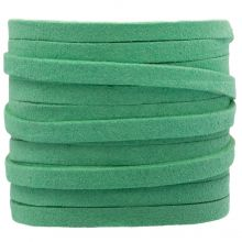 Kunst Wildlederband (5 mm / 1.5 mm) Emerald (5 Meter)