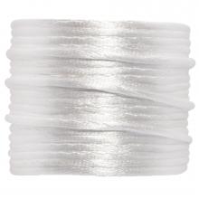Satinkordel (2 mm) White (15 Meter)