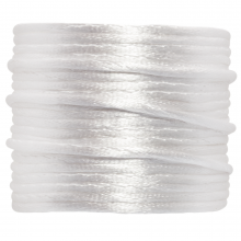 Satinkordel (1.5 mm) White (15 Meter)