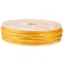 Satinkordel (2 mm) Honey Yellow (15 Meter)