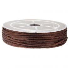Satinkordel (2 mm) Dark Brown (15 Meter)