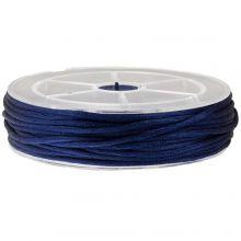 Satinkordel (2 mm) Dark Blue (15 Meter)