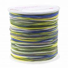 Nylonschnur (1 mm) Mix Color - Navy Yellow (100 Meter)