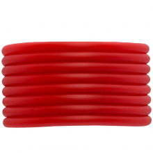 Gummiband hohl (4 mm) Bright Red (5 Meter)