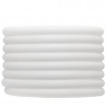 Gummiband hohl (5 mm) White (2 Meter)
