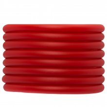 Gummiband hohl (5 mm) Bright Red (2 Meter)