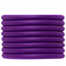 Gummiband hohl (5 mm) Perfect Purple (2 Meter)