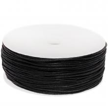 Wachsschnur Baumwolle (ca. 1 mm) Black (90 Meter)