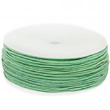 Wachsschnur Baumwolle (ca. 1 mm) Bright Mint Green (90 Meter)