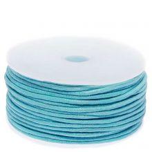 Wachsschnur Baumwolle (ca. 1.5 mm) Light Blue (25 Meter)
