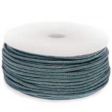 Wachsschnur Baumwolle (ca. 1.5 mm) Petrol Blue (25 Meter)