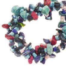 Perlenmischung - Achatperlen (13 - 4 mm) Blueberry (150 Stück)