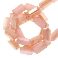 Galvanisierte Glasperlen (4 x 2 mm) Soft Coral (100 Stück)