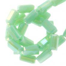 Galvanisierte Glasperlen (4 x 2 mm) Mint Green (100 Stück)