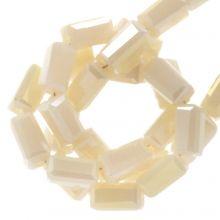 Galvanisierte Glasperlen (4 x 2 mm) Nude (100 Stück)