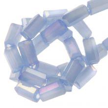 Galvanisierte Glasperlen (4 x 2 mm) Cornflower (100 Stück)
