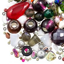 Perlenmischung - Glasperlen (verschiedene Größen) Mix Color (50 Gramm)