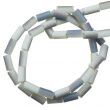 Galvanisierte Glasperlen (5 x 2.5 mm) Lavender Grey AB (95 Stück)