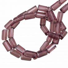 Glasperlen Transparent (7 x 4 mm) Purple Brown (80 Stück)