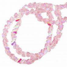 Galvanisierte Glasperlen (3 x 2 mm) Pink AB (148 Stück)