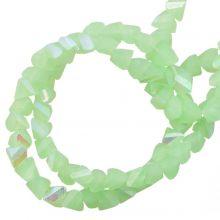 Galvanisierte Glasperlen (3 x 2 mm) Pale Green AB (148 Stück)