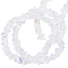 Galvanisierte Glasperlen (3 x 2 mm) Crystal AB (148 Stück)