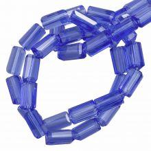 Glasperlen Transparent (7 x 4 mm) Royal Blue (80 Stück)