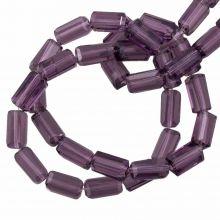 Glasperlen Transparent (7 x 4 mm) Purple (80 Stück)