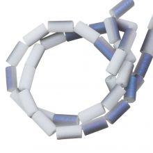Galvanisierte Glasperlen (5 x 2.5 mm) Lavender Blue AB (95 Stück)