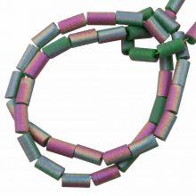 Galvanisierte Glasperlen (5 x 2.5 mm) Sea Green AB (95 Stück)