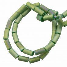 Galvanisierte Glasperlen (5 x 2.5 mm) Dark Sea Green AB (95 Stück)