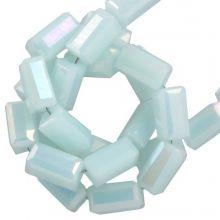 Galvanisierte Glasperlen (4 x 2 mm) Soft Blue (100 Stück)