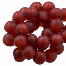 Kunstharz Perlen Mat (8 - 9 mm) Berry (20 Stück)