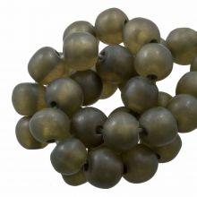 Kunstharz Perlen Mat (8 - 9 mm) Moss Green (20 Stück)