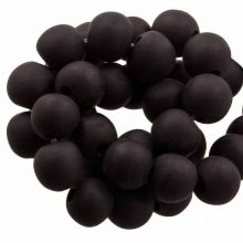 Kunstharz Perlen Mat (8 - 9 mm) Dark Chocolate (20 Stück)
