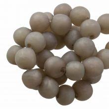 Kunstharz Perlen Mat (8 - 9 mm) Hazel Wood (20 Stück)