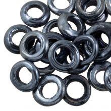 Geschlossene Glasringe (Außenmaß 14 mm Innenmaß 8 mm) Antracite (25 Stück)